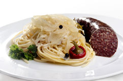 Steamed sauerkraut Stock Photography