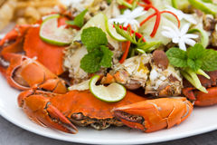 Steamed sea crabs Royalty Free Stock Image