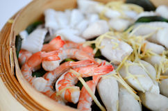 Steamed seafood Royalty Free Stock Photo
