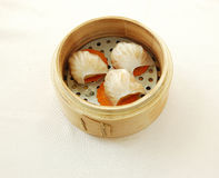 Steamed shrimp dumpling with bamboo shoot Stock Images