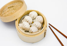 Steamed shrimp dumplings dim sum Royalty Free Stock Images