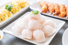Steamed shrimp dumplings dim sum Stock Photo