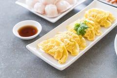 Steamed shrimp dumplings dim sum Stock Image