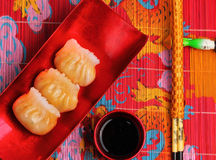 Steamed shrimp dumplings Royalty Free Stock Images