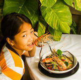 Steamed shrimps with glass noodles Royalty Free Stock Photo