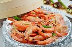 Steamed Shrimps Stock Photos