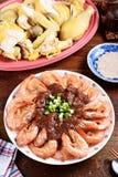 Steamed Shrimps Stock Images