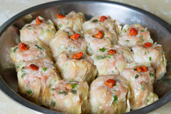 Steamed Shu Mai Pork Dumplings Royalty Free Stock Photography