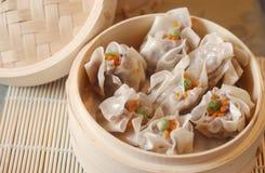 Steamed Siu Mai 1. Shrimp and pork siu mai or Chinese dumplings served as dim sum or snacks Royalty Free Stock Image