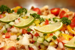 Steamed snapper fish with butter sauce Stock Photography