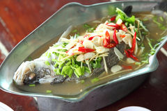 Steamed snapper fish Stock Photo