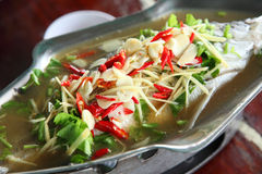 Steamed snapper fish Stock Image