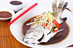 Free Steamed Snapper With Soy Sauce1 Royalty Free Stock Photo - 26634075