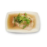 Steamed snow fish in soy sauce Royalty Free Stock Images