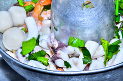Steamed squid Royalty Free Stock Images