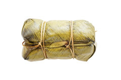 Steamed sticky rice with banana Royalty Free Stock Images