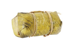 Steamed sticky rice with banana Royalty Free Stock Photo