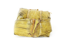 Steamed sticky rice with banana Royalty Free Stock Image