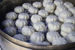 Steamed stuff bun Royalty Free Stock Images