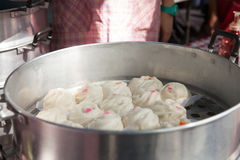 STEAMED STUFF BUN Royalty Free Stock Photo