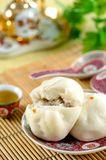 Steamed stuff bun Stock Photography