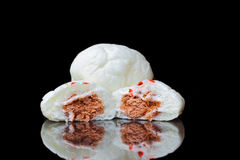 Steamed stuff bun stuffed with red pork Stock Images