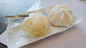 Steamed stuff bun Royalty Free Stock Photography