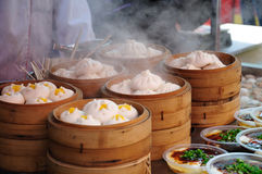 Steamed stuffed bun Chinese food Royalty Free Stock Photos