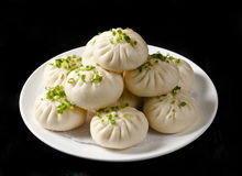 Steamed stuffed bun. One of Chinese Cuisine Royalty Free Stock Photos