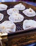 Steamed stuffed bun  (Xiao long bao) Stock Photo