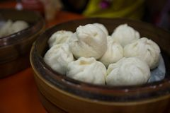Traditional chinese food of steam buns stock photo