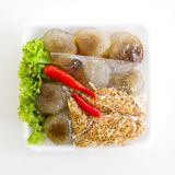 Steamed tapioca balls with peanut and pork filling Stock Photography
