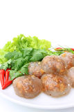 Steamed Tapioca Dumpling With Peanut and Pork Royalty Free Stock Photography