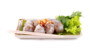 Steamed tapioca dumpling with pork Royalty Free Stock Photography