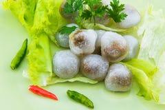 Steamed tapioca dumpling with pork Royalty Free Stock Photo