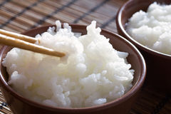 Steamed Thai Rice. Delicious and healthy steamed white thai rice Royalty Free Stock Photo