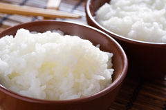 Steamed Thai Rice. Delicious and healthy steamed white thai rice Stock Photos
