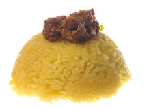Steamed Tumeric Glutinous Rice with Beef Stock Images