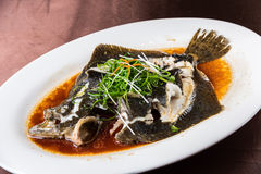 Steamed Turbot Stock Photos