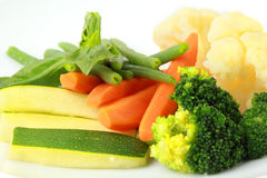 Steamed vegetables close up Stock Photography