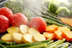Steamed vegetables. Vegetables, many kinds of grilled vegetables, steamed Royalty Free Stock Photography