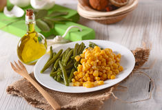 Steamed vegetables on the plate Royalty Free Stock Images