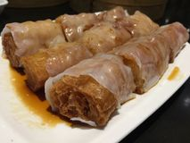 Steamed vermicelli roll Royalty Free Stock Photos