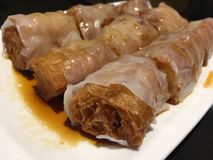Steamed vermicelli roll Stock Photography