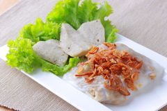 Steamed Vietnamese rice rolls Stock Photo