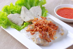 Steamed Vietnamese rice rolls Stock Photos