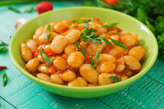 Steamed white beans with vegetables Royalty Free Stock Photography