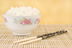 Steamed white rice Royalty Free Stock Photos