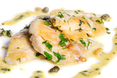 Steamed Zander Fish Stock Images