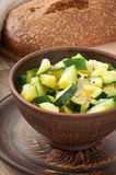 Steamed zucchini with spices Royalty Free Stock Photography